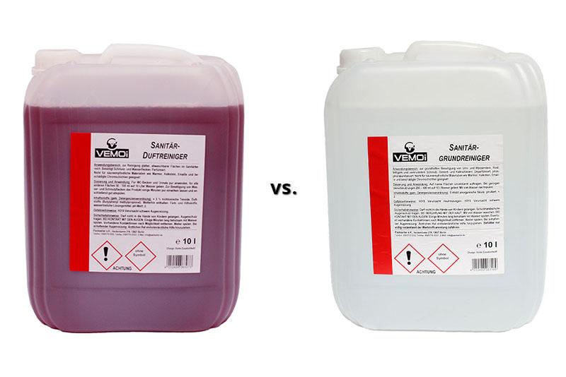 Sanitär-Duftreiniger vs. Sanitär-Grundreiniger
