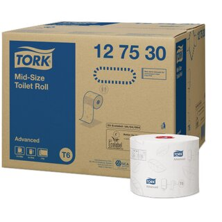 Tork T6 Advanced weiches Midi Toilettenpapier 100 m...